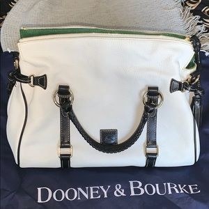 Dooney and Bourke white pebbled leather purse